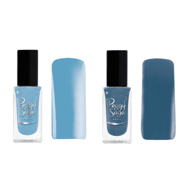 Peggy Sage collection denim blue jean vernis