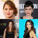 Photo montage : Jennifer Lawrence, Lily Collins, Selena Gomez et Izïa Higelin.