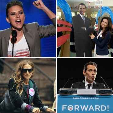 Eva Longoria, Scarlett Johansson, Marc Anthony… ces people qui soutiennent Obama