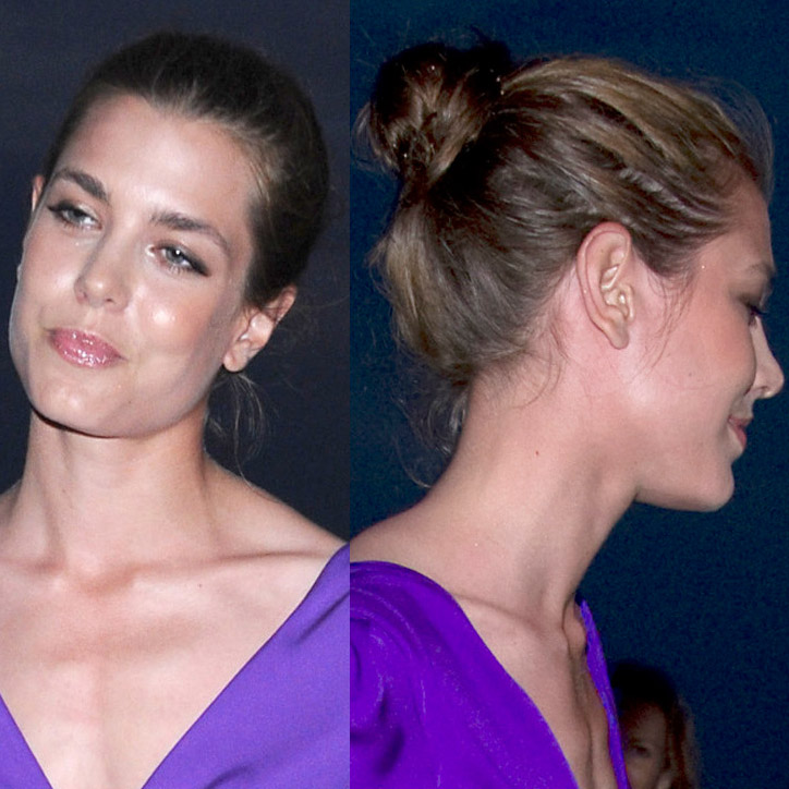 charlotte casiraghi trop sexy avec son chignon de soir e beaut. Black Bedroom Furniture Sets. Home Design Ideas