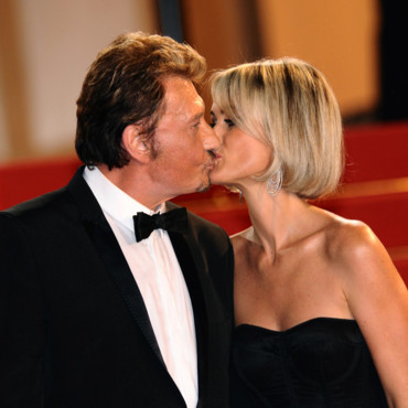 Johnny et Laeticia Hallyday lors de la projection du film Vengeance au Festival de Cannes en 2009