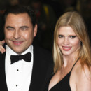 Lara Stone et David Walliams en octobre 2012 à Londres.