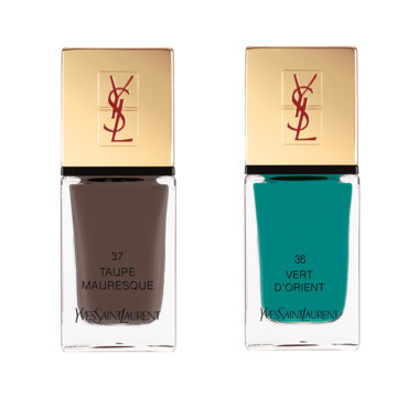 La laque couture vert d'orient et taupe Mauresque Summer collection 2013 Yves Saint Laurent