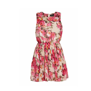 La robe imprimé fleuri New Look 30 euros