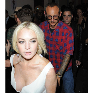 Lindsay Lihan décolleté avec Terry Richardson pour la Terry Richardson Party Paris, Le Rive Gauche septembre 2011