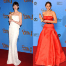 Anne Hathaway vs Jennifer Lawrence - La robe spéciale Golden Globes