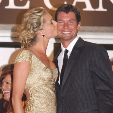 Rebecca Romijn et Jerry O'Connell pour la projection de X-Men:L'affrontement final en 2006 au Festival de Cannes