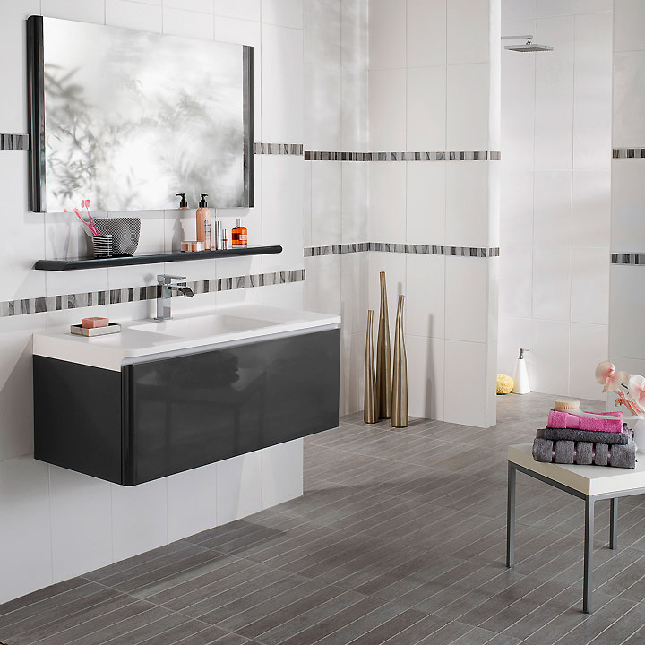 de la collection 2010  Meubles de salle de bain GLOSS gris anthracite
