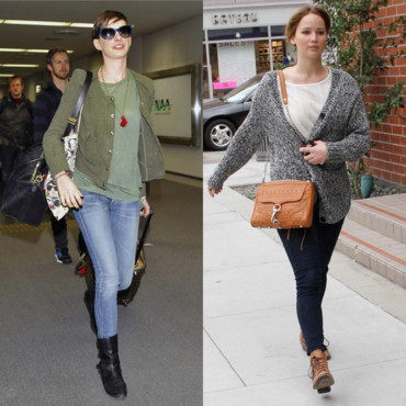 Anne Hathaway vs Jennifer Lawrence - Le look d'hiver