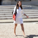 Aurlie Filipetti en robe blanche