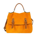 Sac cartable moutarde Minelli 139 euros