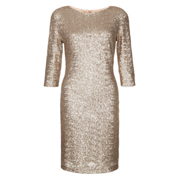 Robe à sequins or à manches longues New Look à 49,99 euros