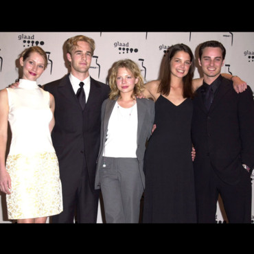 Meredith Monroe, James Van Der Beek, Michelle Williams, Katie Holmes et Kerr Smith de Dawson