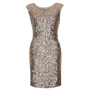 Robe à sequins or New Look à 29,99 euros