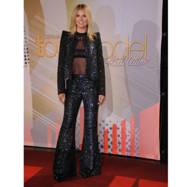 Flop Mode : Heidi Klum en ensemble pailleté