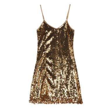 Robe or à sequins Molly Bracken à 49,94 euros
