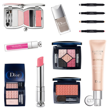 Montage collection de maquillage Chérie Bow de Dior