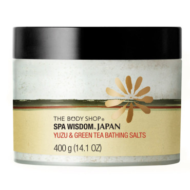 The Body Shop sels de bain spa wisdom japan