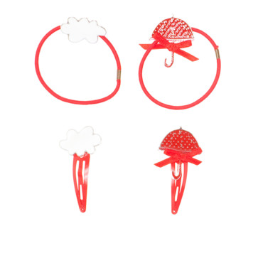 Barrettes rouges Catimini