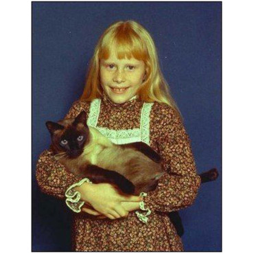 Amy Carter, fille de Jimmy Carter et son chat