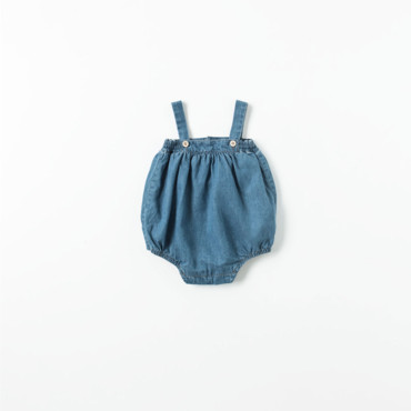 Barboteuse en jean collection Mini Zara à 15,95 euros