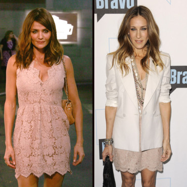 Helena Christensen et Sarah Jessica Parker en Stella Mc Cartney