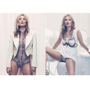 Kate Moss pose en Une d'Esquire