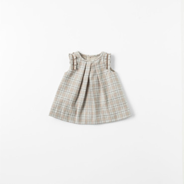 Robe à carreaux collection Mini Zara à 22,95 euros