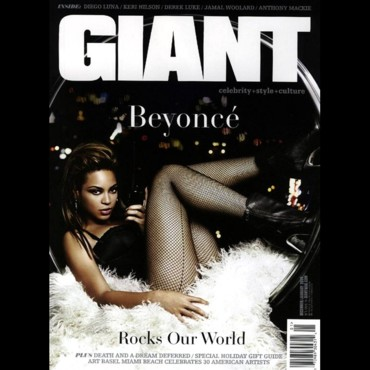 Beyoncé Knowles en couverture de Giant