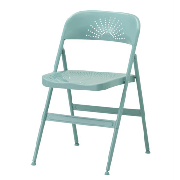 Frode chaise pliante turquoise Ikea à 30 euros