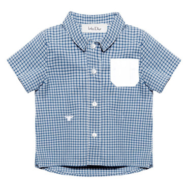 chemise popeline à carreaux Baby Dior