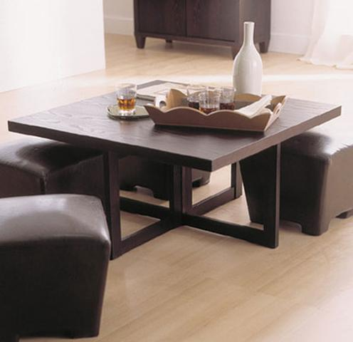 D coration table basse pratique tendances d co d co - Table basse avec poufs integres ...