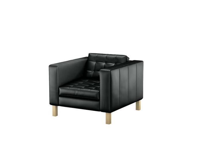fauteuil karlstad noir ikea objet d co d co. Black Bedroom Furniture Sets. Home Design Ideas