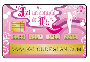 Sticker pour carte de crédit « Dress Code » de K-Lou Design