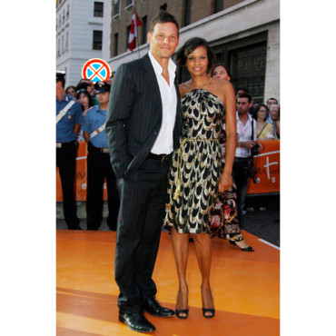 Justin Chambers et sa femme à Rome juillet 2006