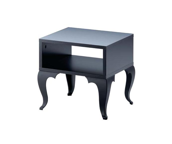 table d 39 appoint malm noire. Black Bedroom Furniture Sets. Home Design Ideas