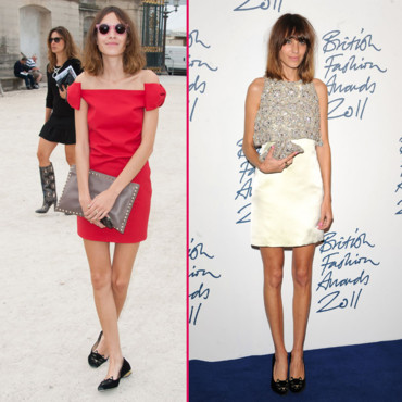 Alexa Chung et ses ballerines chat Charlotte Olympia