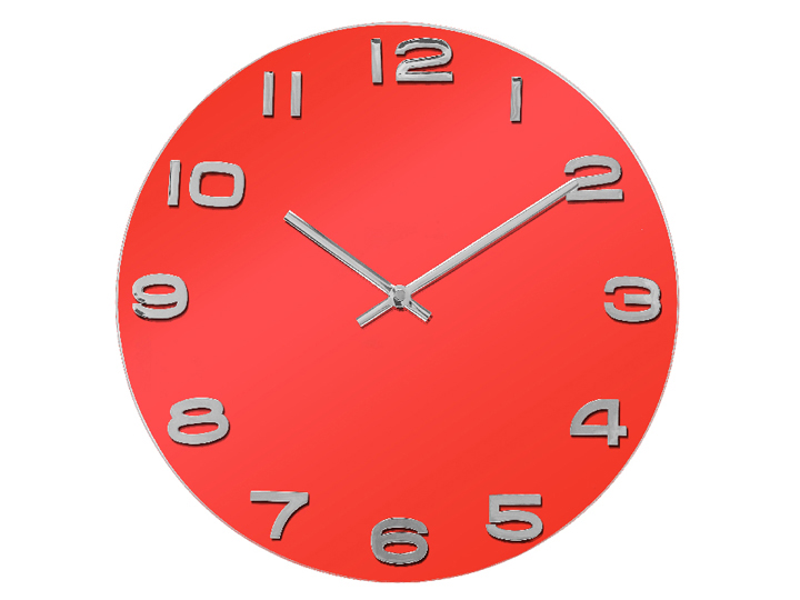 Horloge rouge for Horloge murale ikea
