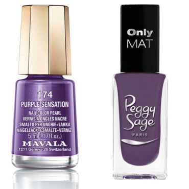 "Plumy mat"" de Peggy Sage (collection Only mat) -""Purple Sensation"" de Mavala (collection Paradoxe)"