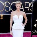 Charlize Theron pour la 85eme cérémonie des Oscars en février 2013 à Los Angeles