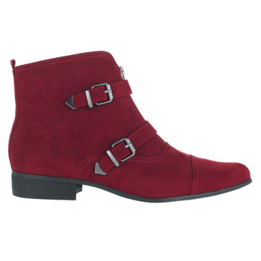 Marks & Spencer limed boots 2 sangles rouge 49,95euros
