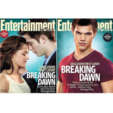Twilight Kristen Stewart Robert Pattinson et Taylor Lautner couverture d'Entertainment Weekly