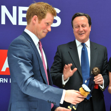 Le Prince Harry et David Cameron à New York le 14 mai 2013