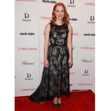Jessica Chastain en Monique Lhuillier
