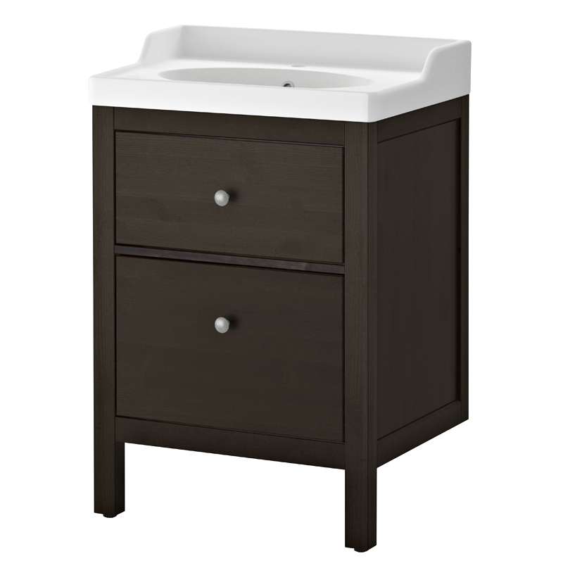 graphique chic 20 meubles et accessoires d co noir et blanc meuble lavabo hemnes ikea. Black Bedroom Furniture Sets. Home Design Ideas