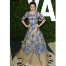 Lily Collins en Monique Lhuillier