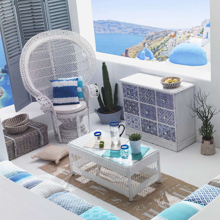 maisons du monde printemps t 2014 direction le br sil ou les cyclades les nouveaut s. Black Bedroom Furniture Sets. Home Design Ideas