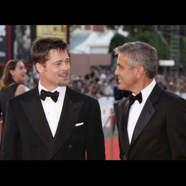 people : George Clooney et Brad Pitt