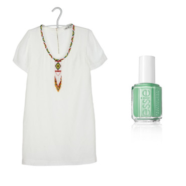 Robe perlée Day Off et vernis Essie