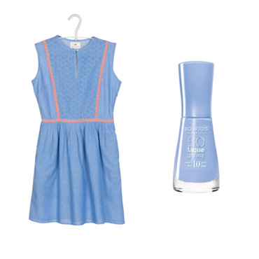 Robe muse of love bleue et vernis Bourjois